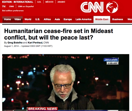 CNN headline, August 1, 2014